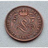 Бельгия 2 сантима, 1909 'DES BELGES' 3-14-44