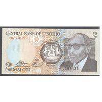 Лесото 2 малоти 1989 UNC