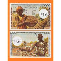 [КОПИЯ] Камерун 1000 франков 1957 г. (Образец)