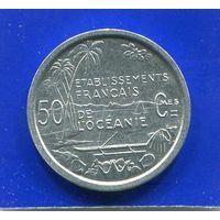 Французская Океания 50 сантимов 1949 , UNC