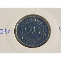 Маврикий. 20 центов 2001 год КМ#53