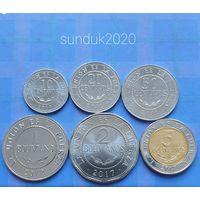 Боливия 10 20 50 сентаво, 1 2 5 боливиано 2012-2017 набор 6 монет