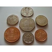Остров Мэн. набор 7 монет 2004 год 1,2,5,10,20,50 пенсов - 1 фунт    UNC