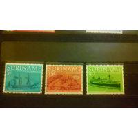 Корабли, парусники, флот, транспорт, архитектура, марки, распродажа, Суринам