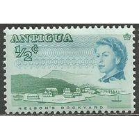 Антигуа. Королева Елизавета II. Верфи Нельсона. 1966г. Mi#156.