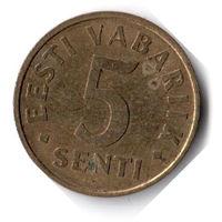 Эстония. 5 сентов. 1992 г.