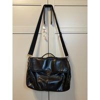 Zara мужская сумка-портфель из кожи