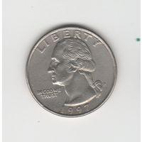 25 центов (квотер) США 1997 Р Лот 4030
