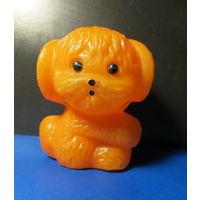 Собачка оранжевая(пластмасса,7см) времён СССР