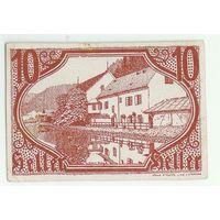 Австрия, (Нотгельд) 10 heller 1921 год.