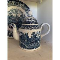 Villeroy&boch Blue Castle чайник+блюдо