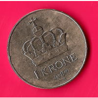 30-07 Норвегия, 1 крона 1987 г