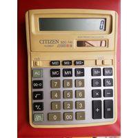 Калькулятор Ситизен Citizen. 10-ти разрядный. 2 источника питания батарейка и свет. Рабочий.