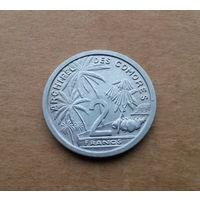 Коморские острова (Франция), 2 франка 1964 г., состояние
