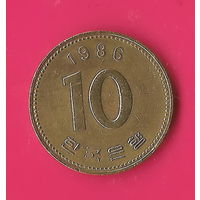 13-01 Южная Корея, 10 вон 1986 г.