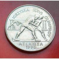 2 злотых 1995 Польша Олимпийские игры в Атланте 1996 (борцы) (Atlanta 1996)