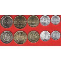 Перу - Набор 5 монет - 2009 - UNC