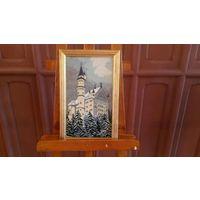 """Картина вышитая полностью чешским бисером """" Замок Нойшванштайн""""."""