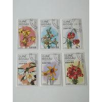 Гвинея Бисау 1989. Лилии. Цветы