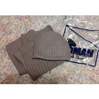 Новый комплект шапка и шарф Loman