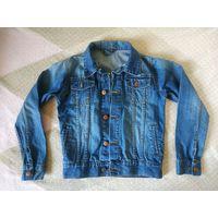 Куртка джинсовая HEMA р.134-140. Идеальное состояние. Длина рукава от плеча 53 см, длина по спинке 49 см
