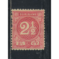 NL Колонии Суринам 1890 Номинал Стандарт #24*