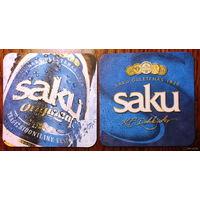 Подставка под пиво Saku /Эстония/ No 1