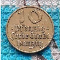 Гданьск 10 пфеннигов 1932 года. Вольный город Данциг.