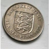 Джерси 10 новых пенсов, 1975 3-6-14