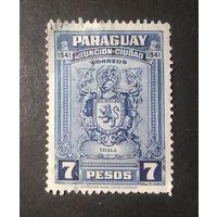 ПАРАГВАЙ\1440\1942г герб. 400лет Асунсьон. Столица Парагвая