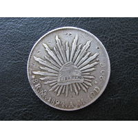 Мексика 8 реалов 1894 Серебро Rare!