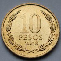 10 песо 2008 Чили