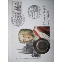 ФРГ. 5 марок 1980. 100 лет со дня окончания строительства Кёльнского собора. Конверт, марки  ПС-22