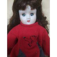 Фарфоровая кукла .винтаж . Со спящим механизмом глаз. 48 см