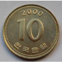 Южная Корея 10 вон, 2000 г.