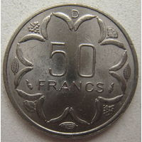 Центральная Африка 50 франков 1978 г. D - Габон