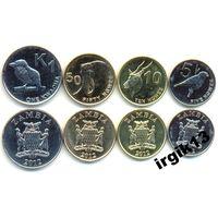 Замбия сет из 6 монет 1983-2012 гг. фауна UNC