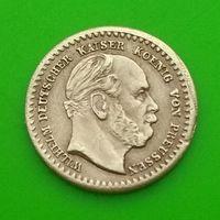 Старый игровой токен - L.CHR.LAUERS - 5 марок - 19 век - ГЕРМАНИЯ - имитация золотой монеты