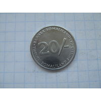 Сомалиленд 20 шиллингов 2002г.km6