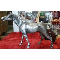 Статуэтка Лошадь (конь, мустанг), силумин. СССР