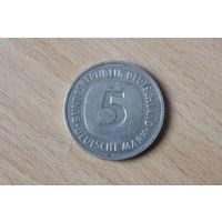 5 марок 1975G Германия КМ# 140.1 медно-никелевый сплав