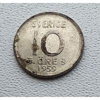 Швеция 10 эре, 1959 2-1-56