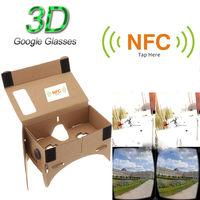 """DIY Google картон очки виртуальной реальности VR мобильного телефона 3D очки с NFC тег для 5.0 """"экран"""