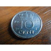 10 центов, Нидерланды, 1977 г.