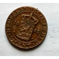 Голландская Ост-Индия 1/2 цента, 1945 3-5-33