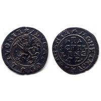 Шиллинг 1572, Ливония, замок Далхольм (Доле). Редкое состояние для этого типа монеты, R3!