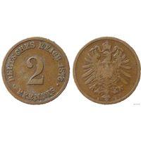 YS: Германия, Рейх, 2 пфеннига 1876B, KM# 2 (1)