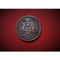 Канада 50 центов 1962г., Серебро. ТОРГ.