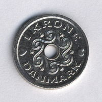 Дания, 1 крона 1999 г.