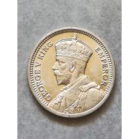 Новая Зеландия 3 Пенса 1936г серебро